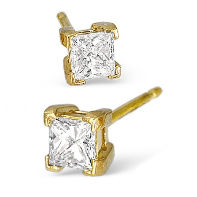 18K Gold 0.30ct G/vs Diamond Earrings, DE02-30VSY