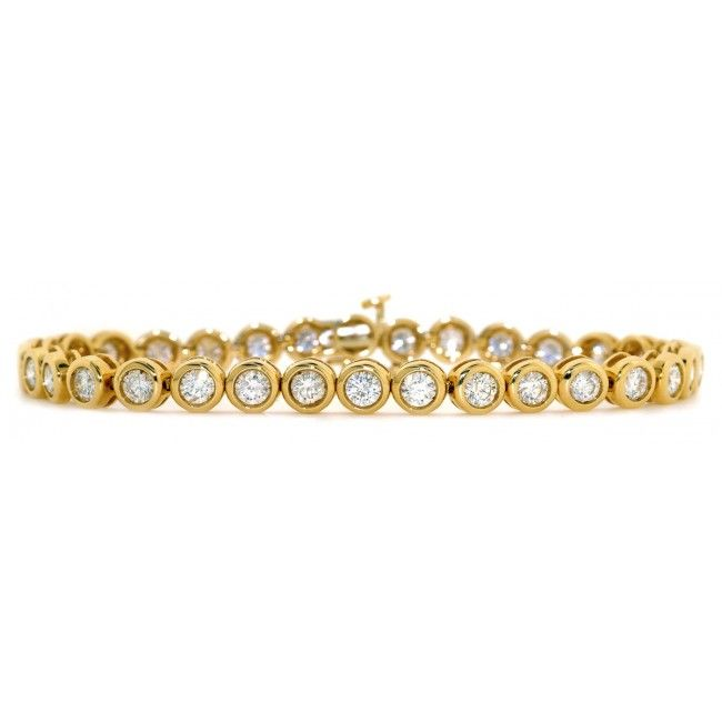18K Gold 5.00ct H/si Diamond Bracelet, DBR02-5HSY