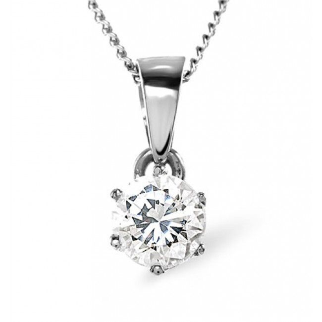 18K White Gold 0.33ct Diamond Pendant, DP01-33PKW