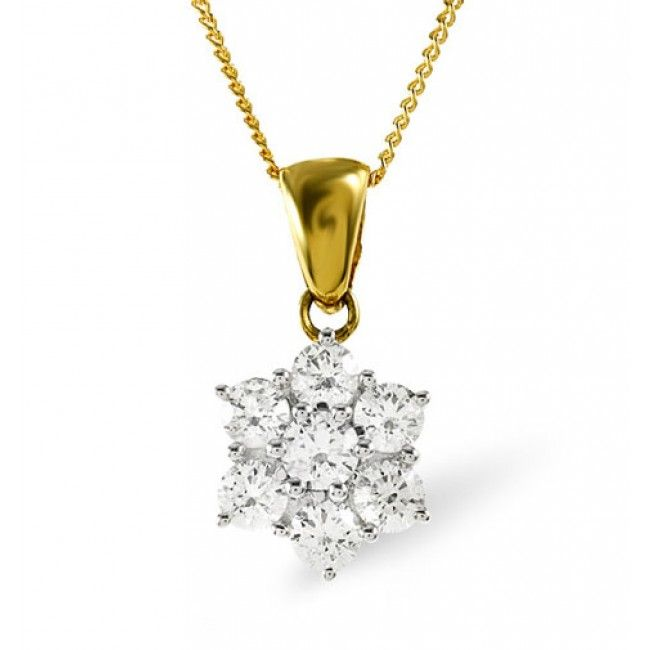 18K Gold 0.50ct H/si Diamond Pendant, DP05-50HSY