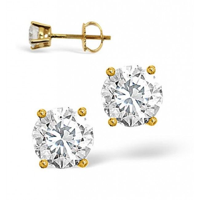 18K Gold 0.66ct Diamond Earrings, DE01-66PKY