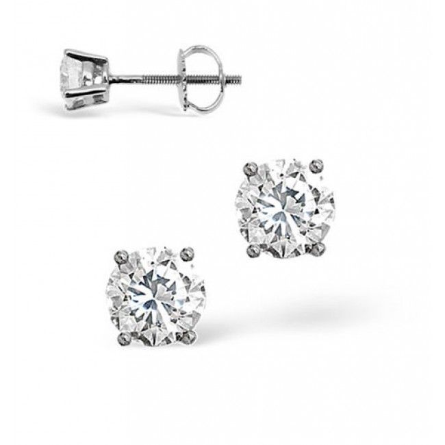 18K White Gold 0.20ct G/vs Diamond Earrings, DE01-20VSW