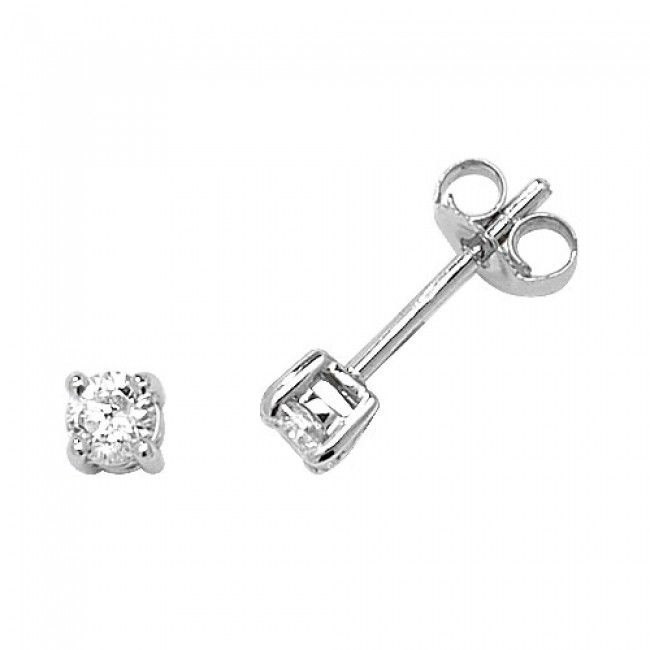 18K White Gold Studs Brilliant Diamond G SI2 0.66 carat Stud Earrings