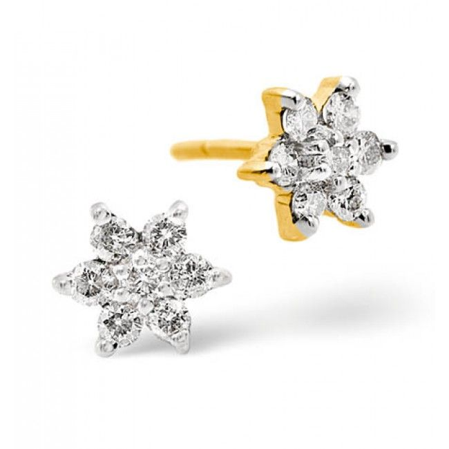 9K Gold 0.30ct Diamond Earrings, F2034