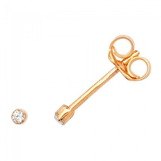 Just Gold Earrings -9Ct Earring Studs Cz, ES327