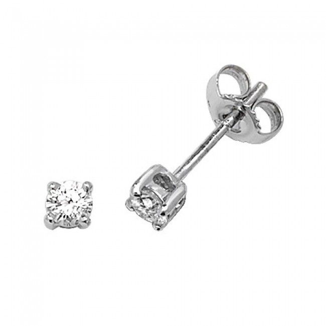 18K White Gold Studs Brilliant Diamond G SI2 0.33 carat Stud Earrings