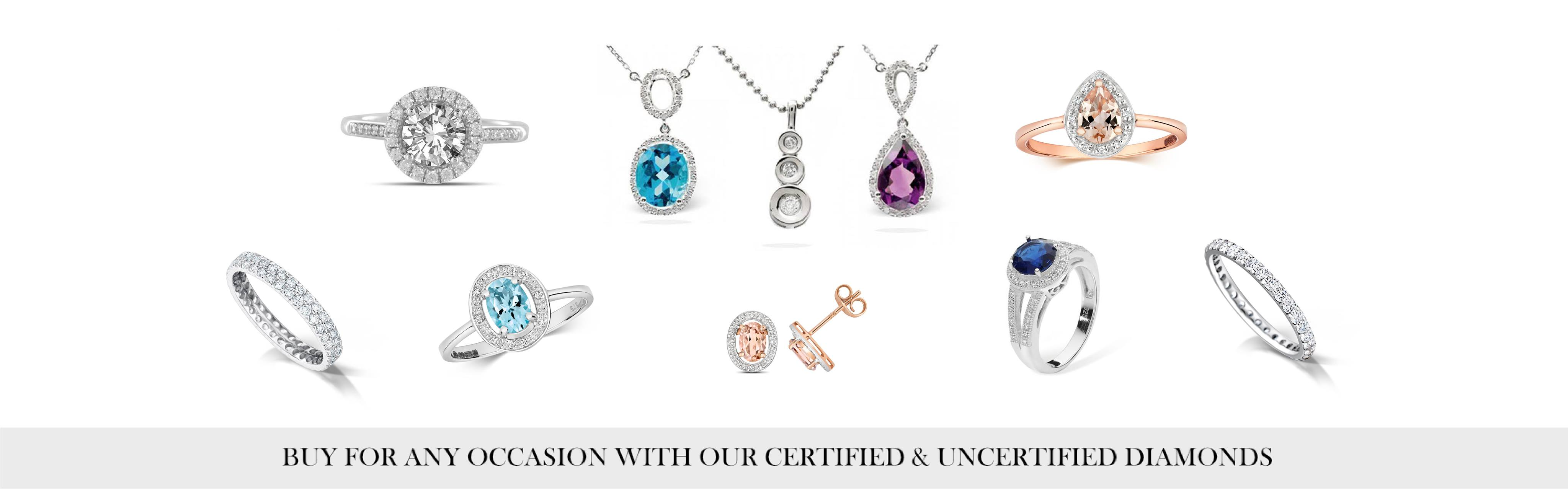 Certified and Uncertified Diamond Rings